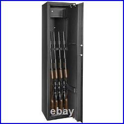 Zokop 57 9 Gun Rifle Shotgun Pistol Lock Keys Steel Safe Box Wall Fixed Black